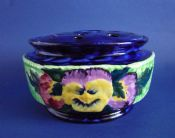 Maling 'Viola and Pansy' Ringtons Rose Bowl and Lid c1935